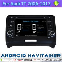 Wholesale Audi Gps Radio - 2 Din Radio GPS Bluetooth Quad Core for Audi TT 2006 2007 2008 2009 2010 2011 2012 2013 Android Car Dvd with Steering Controls