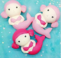 Wholesale Wholesale Mermaid Dolls - Squishy Toys Squishy Mermaid Jumbo Kawaii Mermaid Squishy slow rising squishies Slow Rising Doll Gift for Kids Toy KKA3357