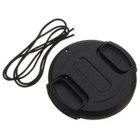 Wholesale 1pcs Durable Plastic New mm Front Lens Cap Hood Cover For Canon For Nikon For Pentax For Sony Black Speedy installation