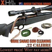 Wholesale Snake Gun 22 Shotgun - Bore Snake .22Cal .223rem .222rem .204rem .22-250 Cal remRifle Shotgun Pistol Cleaning Kit Gun Boresnake Brush
