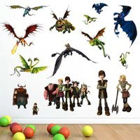 Wholesale Wall Decals Dragon - How to Train Your Dragon Wall Stickers Removable Vinyl Art Kids Room Decals DIY free shipping