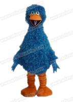 großes vogelkleid groihandel-AM9204 Blau Big Bird Maskottchen Kostüm Fell Maskottchen Anzug Tier Maskottchen Outfit Erwachsenen Kostüm