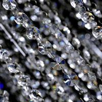 ingrosso ornamenti di natale acrilico-New Wedding Party Decoration Clear Crystal acrilico Ottagonale Bead Curtain Ghirlande fili Craft fai da te Albero di Natale Hanging Ornament