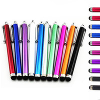 Wholesale iphone 4s pens resale online - Universal Capacitive Stylus Touch Pen for iPhone S s s Samsung S6 HTC M8 M9 Ipad Tablet Stylus Pen Capacitive Touch Screen pen
