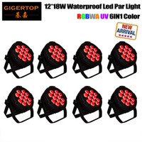 Freeshipping 8 Pack 12 18W Big Aluminum Housing exterior Led Par latas para Home Garden Navidad Navidad Party DJ DJ Disco Club Effect