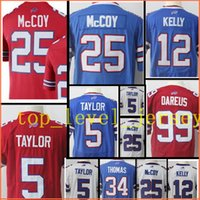 Wholesale Kelly Manning - stitched 25 LeSean McCoy5 Tyrod Taylor jersey Men 12 Jim Kelly 34 Thurman Thomas 99 Marcell Dareus jerseys Free Shipping