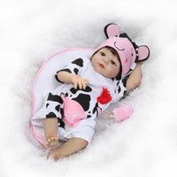 Atacado- 55cm Full Body Silicone Reborn Baby Doll Toy Lifelike Newborn Vinil Toddler Babies For Kid Brithday Gift Banhe Toy Brinquedos