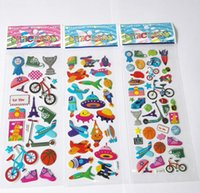 Wholesale Cute 13 Boys - 2015 NEW Cute cars stickers for children mini PVC puffy 3D stickers cars trunk jet cartoon stickers kids stickers kids rewards kids toy