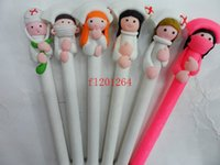 Wholesale Plastic Clinic - Fedex DHL Free shipping Doctors and nurses Souvenirs Nurses Day Gift Fimo gift pen Hospitals and clinics gifts ,1440pcs lot