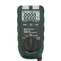 "Wholesale Digital Flash Light Meter Tester - MASTECH MS8232B 4"" Mini Auto Range Digital Multimeter DMM Frequency Capacitance Meter w Flash Light & Duty Cycle Tester"