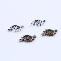 Wholesale Wholesale Wheel Charm - New fashion silver copper retro Steering wheel pendant Manufacture DIY jewelry pendant fit Necklace or Bracelets charm 300pcs lot 5265x