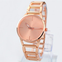 Wholesale Design Batteries - A piece lots Top brand women watch rose gold special steel band Lady Wristwatch+free box fashion design Free shipping