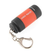перезаряжаемый брелок оптовых-Wholesale-Mini Keychain Pocket Torch USB Rechargeable LED Light  Lamp 0.3W 25Lm Multicolor Mini-Torch  new