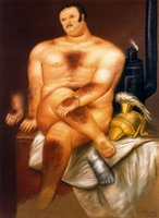 Wholesale Botero Hand Painted - oil Painting,Fernando Botero art for sale Fernando Botero Paintings 42 Canvas,Hand-painted,High quality