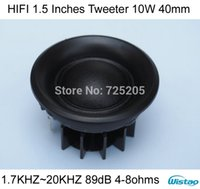 Wholesale Hifi Tweeter - HIFI 1.5 Inches Tweeter 10W 1.7KHZ ~ 20KHZ 89dB 40 mm for Speaker Column Small Speakers 1 Pair Price High Sensitivity DIY