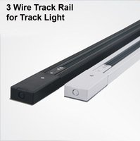 spotlight canada - LED Track Rail m Wire Track Lighting Fixture Connnector Universal Rail Spotlight Fixtrure Clothing Shoe Shop For America Australia Canada