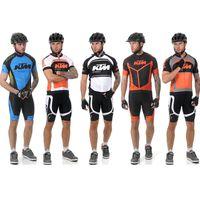 Wholesale China Pro Sports Jersey - Wholesale-2015 KTM ropa ciclismo summer cycling jersey short sleeve set sport jerseys mtb bike cycling clothes China pro mailot ciclismo