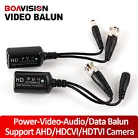 Wholesale Adapter Camera Rj45 - 1CH Video Transmitter Video Balun 720P&1080P HDCVI AHD HDTVI Camera BNC Connector TO RJ45 Transceivers Adapter