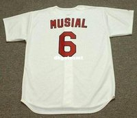 Cheap Custom STAN MUSIAL St. Louis Cardinals Majestic Cooperstown Home Baseball Jersey Retro Mens Jerseys