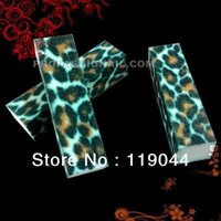 Wholesale Leopard Nail Buffer Wholesale - Wholesale-Free Shipping Leopard 4 way Nail Buffing Block File Nail Buffer For Nail Tip NA017
