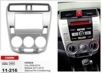 Wholesale Honda Dash Kit - CARAV 11-216 Top Quality Radio Fascia for HONDA City 2008-2014; Ballade 2011-2014 Stereo Fascia Dash CD Trim Installation Kit