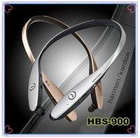 bluetooth zil sesleri toptan satış-HBS 900 Kulaklık Tonu + Infinim X10 Boyun Bantları Kablosuz Stereo Kulaklık Bluetooth 4.0 HBS900 HBS-900 için Spor Kulaklık