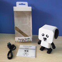 Compra Cucciolo Musicale-Nuovo robot multifunzionale bluetooth Mini Cubic Puppy Dog audio piccolo cucciolo quadrato danza intelligente piccolo robot bluetooth altoparlante giocattoli 2017