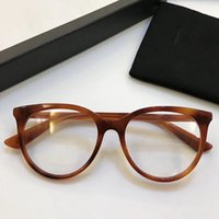 Wholesale Frame Out Mirror - 0093 Luxury Fashion Women Brand Design Popular Glasses Hollow Out Optical Lens Cat Eye Full Frame Black Tortoise Grey Pink Come With Case