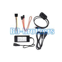 sabit sürücü 3,5 ide sata adaptörü toptan satış-SATA / PATA / IDE Sürücü için USB 2.0 Adaptör Dönüştürücü Kablosu 2.5 / 3.5 Inç Sabit Disk / Harici Sürücü ile Optik Sürücü Güç Uyar 50 adet / grup