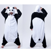 Wholesale Ladies Animal Print Costume - Kongfu Panda Animal Onesies Pajamas Adult Onesies Costume Pyjamas Women Ladies One Piece Pyjama Anime Cosplay Kigurumi Animal Costumes