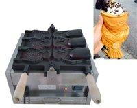 máquina taiyaki al por mayor-Envío gratis 3 unids Helado Taiyaki Maquina Máquina de cono de pescado para la venta