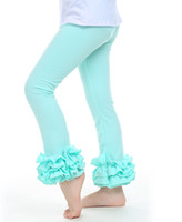 Wholesale wholesale ruffle leggings - UPS Fedex Free Ship 2015 New Baby Girls Cotton Ruffles Leggings Pants Toddlers Children Baby Kids Girls Ruffle Leggings With Ruffled 2-6Y