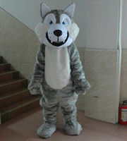Wholesale wolf Dog Mascot Cartoon Costume Quality Christmas Dog Puppy Costume Fancy Dress