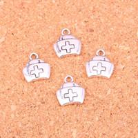ingrosso aiuta i braccialetti-143 pz argento antico di fascini kit di primo soccorso croce pendente adatto bracciali collana fai da te gioielli in metallo fare 13 * 12mm