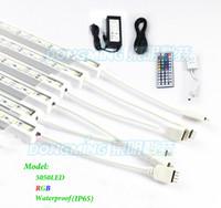 Wholesale 36 Ir Led - Wholesale-IP65 Waterproof 0.5m LED bar light RGB 36 LEDs 5050 SMD with u aluminum profile 12V 5A Power Supply +44 Keys mini ir Control