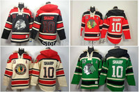 Sweat-shirt À Prix Bas Pas Cher-2016, Drop Shipping Low Price Chicago Blackhawks à encolure Jersey # 10 Patrick Sharp Old Time Hoody Ice Hockey Hoodies Sweatshirts