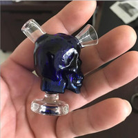 Wholesale Cheap Hand Pipes Free Shipping - Cheap Skull mini water pipes small hand pipe glass Blunt bong Bubbler Joint Smoking Bubble wholesale free shipping