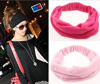 Wholesale Wide Bohemian Headband - Headband Cotton Elastic Sports Wide Hair Accessories Good Spandex New Variety of Wear Headbands for Women