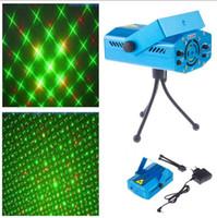 led-lichtstrahl glas groihandel-Blau Mini LED Laser Projektor Rot und Grün Laser Bühnenlicht Für Disco Party DJ Bar Club Mit EU US UK AU Stecker