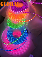 Wholesale Fluorescent Strip Lighting - Night Pearl Neon Light LED Strip 10M 5050 SMD Purple Pink Green Yellow Blue Waterproof IP65 Flexible 300 Leds Fluorescent Color 12V Strips