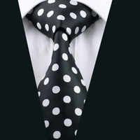 Wholesale Mens Silk Cravats - 2016 Fashion New Men's Necktie Floral Tie For Mens Business Cravat Bridegroom Polka Dots Stylish Neck Tie D-1190