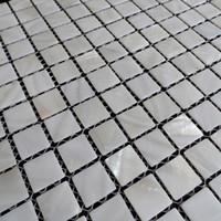 freie bodenfliesen großhandel-[FREIES VERSCHIFFEN] weiße Farbe Perlmuttoberteilmosaik, 20x20mm für Fußboden / Wand benutzt, Frischwasseroberteilfliese # MS090