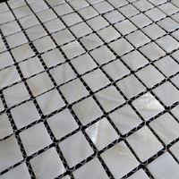 ingrosso piastrelle di mosaico giallo-[SPEDIZIONE GRATUITA] Mosaico di conchiglie in madreperla di colore bianco, 20x20mm per pavimento / parete, mattonelle di shell di acqua dolce # MS090