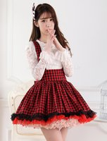 Wholesale Dandy S - Wholesale-Red Polyester Lace Dandy Cosplay Costumes