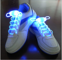 Wholesale Fun Shoelaces - 2016 New Arrival LED Flashing shoelace light up shoe Flashing Disco Party Fun Glow Laces Shoes 25pairs lot 2pcs=1 pair