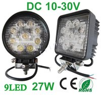 Wholesale 27w led work lights - Square Round 27W Flood Spot Beam Offroad LED Work Light Truck Boat Camping DC12V 24V LED Working Light Off Road Round Driving Lamp