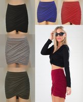 Wholesale Wholesale Formal Women S Clothes - Summer party formal dress pleated skirt package hip skirts for women clothing dresses mini Sexy woman clothes Skirts Fashion dress 224