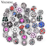 Wholesale Bags Snaps - VOCHENG NOOSA Wholesale Mix Sales 50pcs 100pcs 200pcs 500pcs bag Random 12mm Ginger Snap Button Vn-991