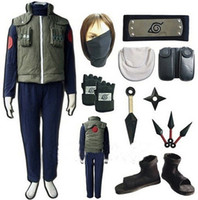 Wholesale naruto cosplay for sale - Naruto Hatake Kakashi Full Set Cosplay Costume