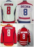 Wholesale cheap hockey jerseys washington - Youth 2015 Winter Classic Washington Alex Ovechkin Hockey Jersey Home Red White Kids Alexander Ovechkin #8 Cheap Stitched Jersey